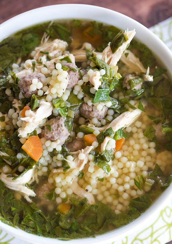 While the most basic wedding soups include some type of meat, a green ...