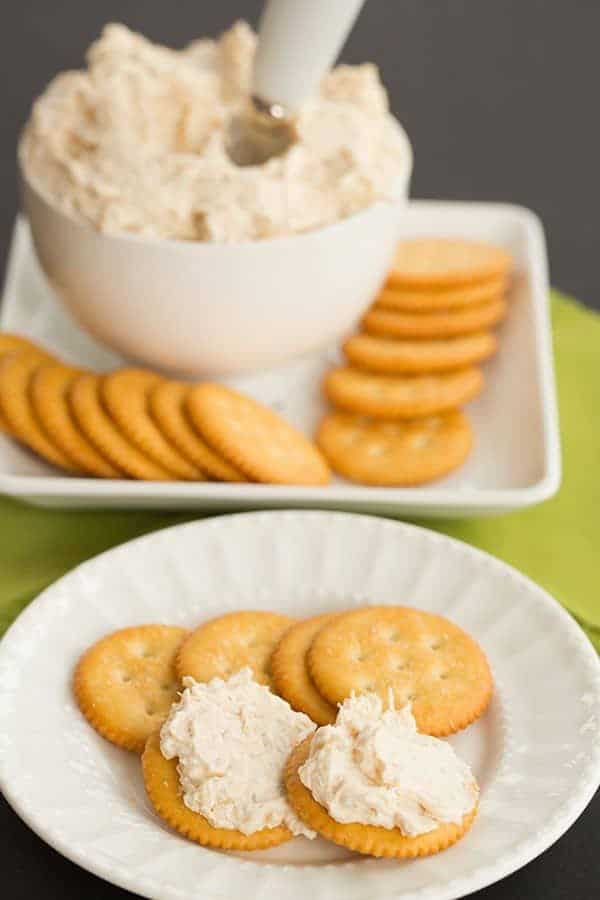 A vintage recipe for Chicken Spread/Dip using Underwood chicken. | browneyedbaker.com
