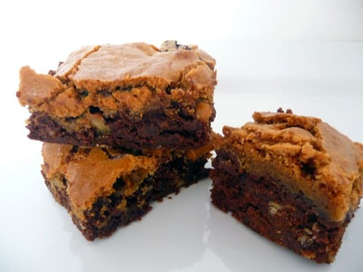 Chocolate Chip Cookie-Topped Brownies | Brown Eyed Baker