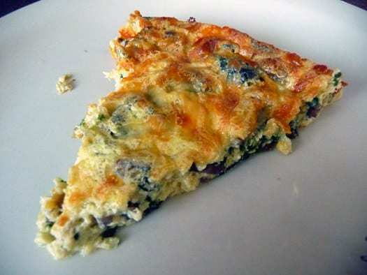 Mushroom Spinach  Gruyere Quiche Brown Eyed Baker