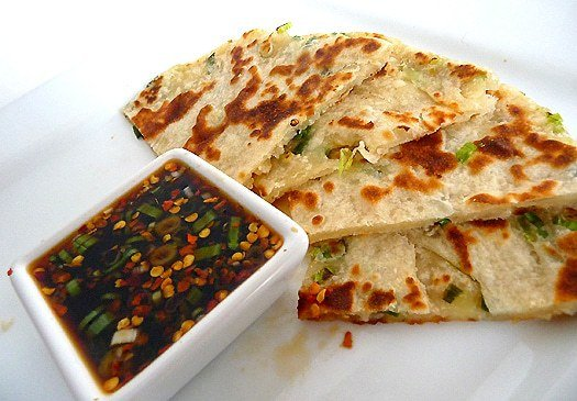 Scallion Pancakes with Ginger Dipping Sauce | Brown Eyed Baker