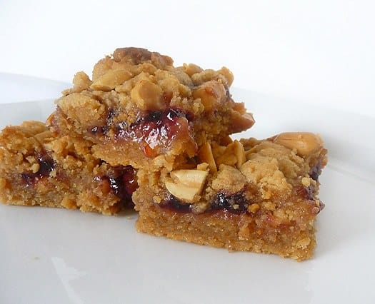 Peanut Butter and Jelly Bars | Brown Eyed Baker