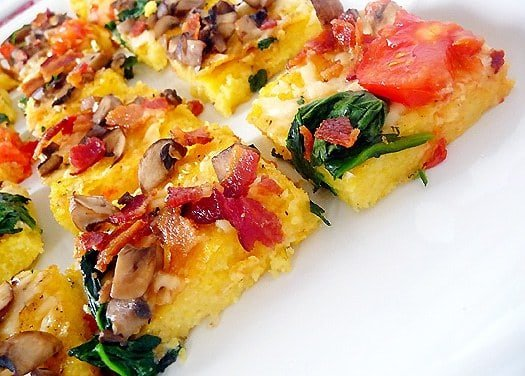Polenta Pizza | Brown Eyed Baker