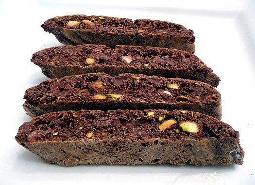 Chocolate And Pistachio Biscotti Recipe — Dishmaps