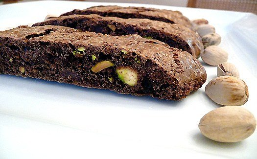 Chocolate-Pistachio Biscotti | Brown Eyed Baker