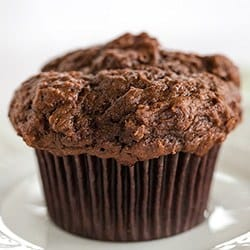 Triple Chocolate Chunk Muffins | Brown Eyed Baker
