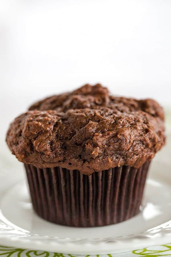 Triple Chocolate Chunk Muffins - The perfect excuse for eating chocolate for breakfast! | browneyedbaker.com
