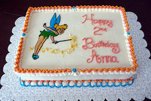 Birthday Cakes For Girls 2nd Birthday. Tinkerbell Birthday Cake