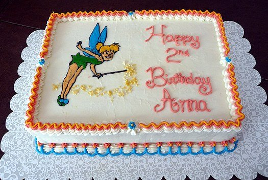 birthday cakes for girls 2nd birthday. irthday cakes for girls 2nd birthday. Tinkerbell Birthday Cake