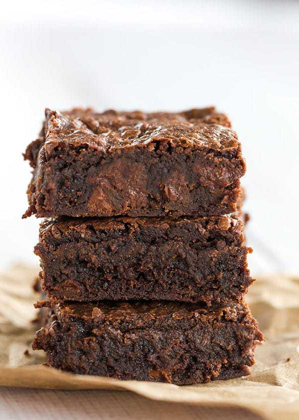 These homemade brownies have all of the great texture and flavor of ...