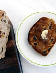 Cinnamon Raisin Walnut Bread