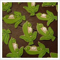 Pea in a Pod Baby Shower Cookies