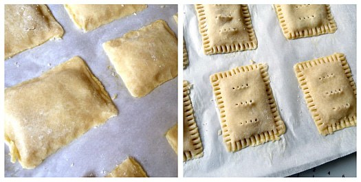 Homemade Pop-Tarts: Finishing touches before baking