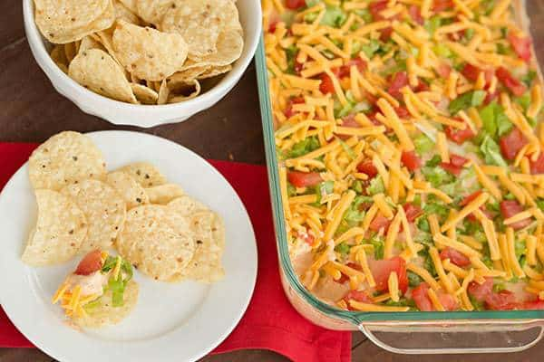 Taco Dip Recipe - Only a few ingredients and it's done in less than 10 minutes! | browneyedbaker.com