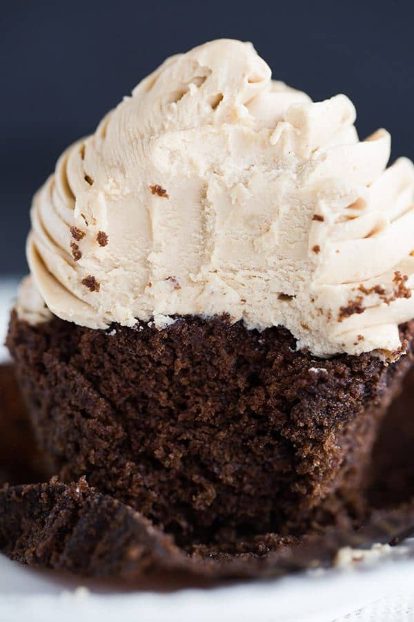 Mocha Cupcakes with Espresso Buttercream Frosting | Brown Eyed Baker ...