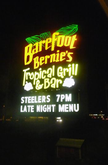 Barefoot Bernie's - Our Steelers destination!