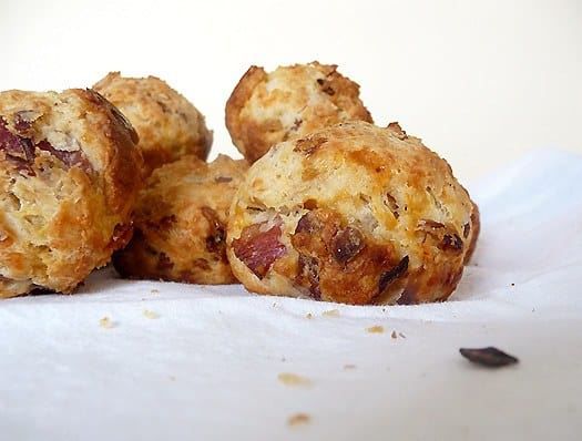 Bacon Onion Cheddar Biscuits | Brown Eyed Baker