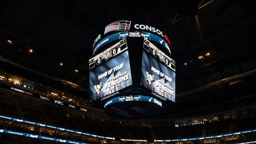 Jumbotron at Consol Energy Center