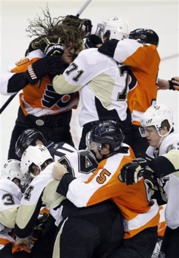 Typical Pens/Flyers game