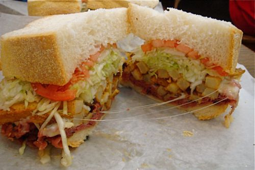 A Primanti Bros. sandwich