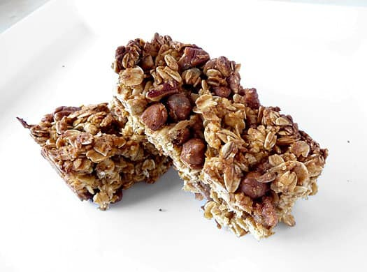 Pumpkin Cinnamon Chip & Pecan Granola Bars by Brown Eyed Baker