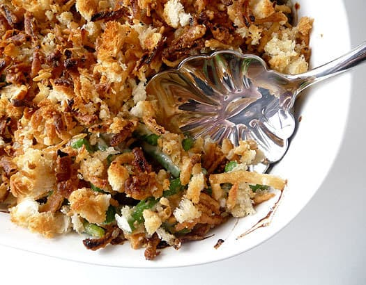 Fresh Green Bean Casserole Recipe - A remake of the popular Thanksgiving casserole made completely from scratch! | browneyedbaker.com