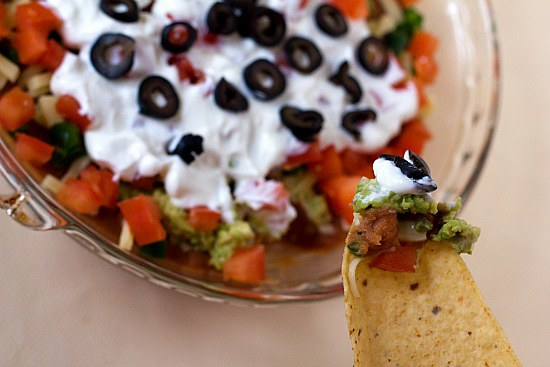 dip seven layer taco dip classic from a can 7 layer dip classic 7 ...