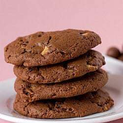 Chocolate Malted Whopper Cookies