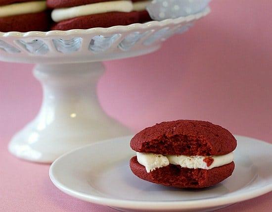 Red Velvet Whoopie Pies | Valentine's Day Desserts