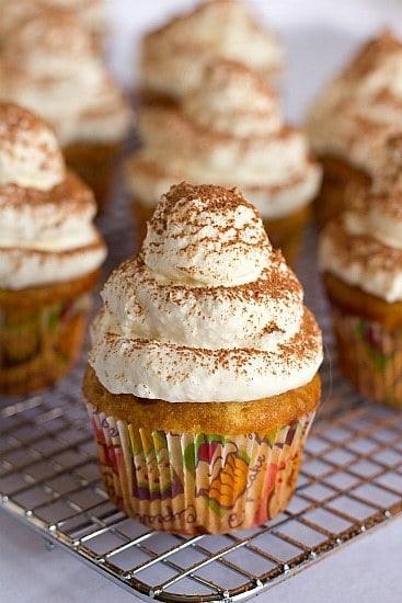 Tiramisu Cupcakes | Brown Eyed Baker