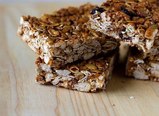 Crunchy Granola Bars | Healthy Recipes | Brown Eyed Baker