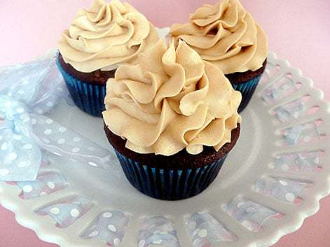 Mocha Cupcakes with Espresso Buttercream Frosting | browneyedbaker.com