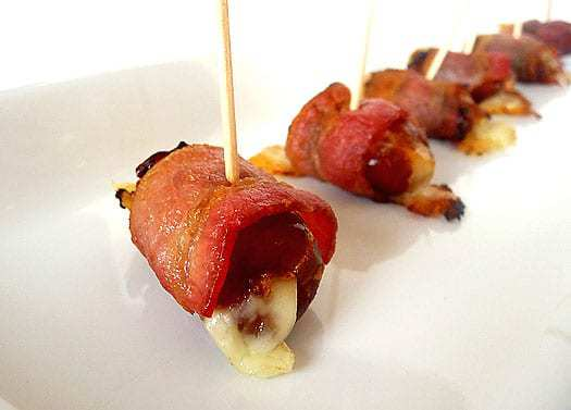 Top 10 Best Appetizer Recipes >> Fontina-Stuffed, Bacon-Wrapped Dates | browneyedbaker.com