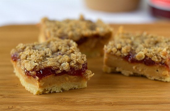 Peanut Butter and Jelly Pie Bars | Brown Eyed Baker