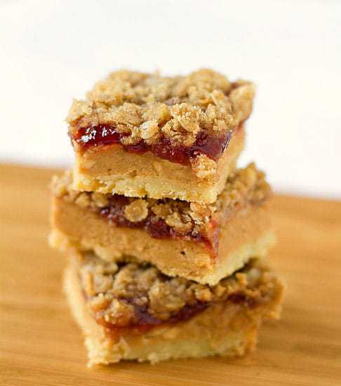 Top 10 Best Bar Recipes >> Peanut Butter & Jelly Pie Bars | browneyedbaker.com