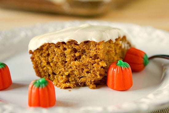 Top 10 Best Bar Recipes >> Pumpkin Bars with Cream Cheese Frosting | browneyedbaker.com