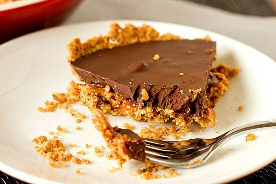 Top 10 Best Pie & Tart Recipes :: Take 5 Candy Bar Pie | browneyedbaker.com
