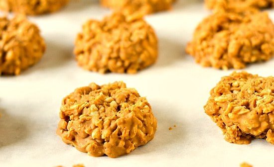 No-Bake Peanut Butter Butterscotch Crisp Cookies | Brown Eyed Baker