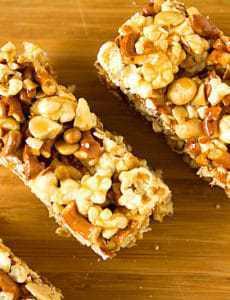 Salted Caramel Popcorn Pretzel & Peanut Bars