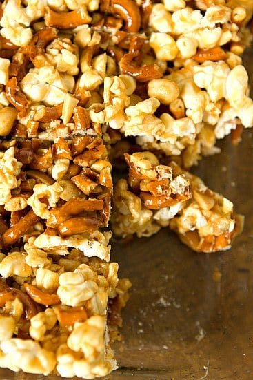 We have salted caramel, popcorn, pretzels, peanuts, and another ...