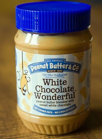 Peanut butter with white chocolate