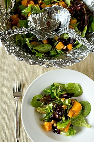 Roasted Butternut Squash Salad with Warm Cider Vinaigrette | Brown ...
