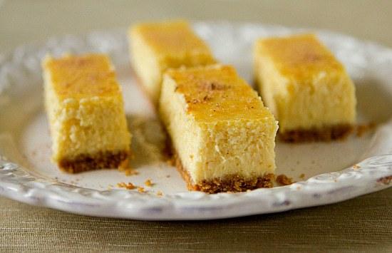 Eggnog Cheesecake Bars   Brown Eyed Baker