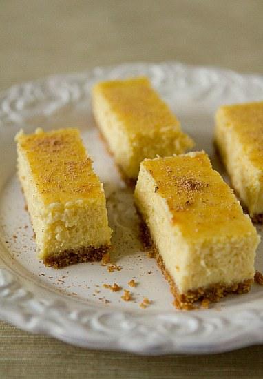Elizabeth's Eggnog Cheesecake Bars Recipe — Dishmaps