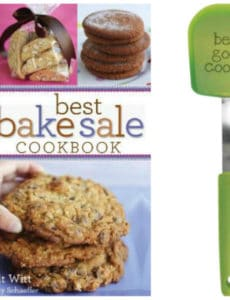 """Best Bake Sale Cookbook"" & OXO ""Be a Good Cookie"" Spatula"