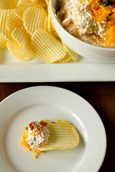 baked potato dip with loaded baked potato dip with the potato chips ...
