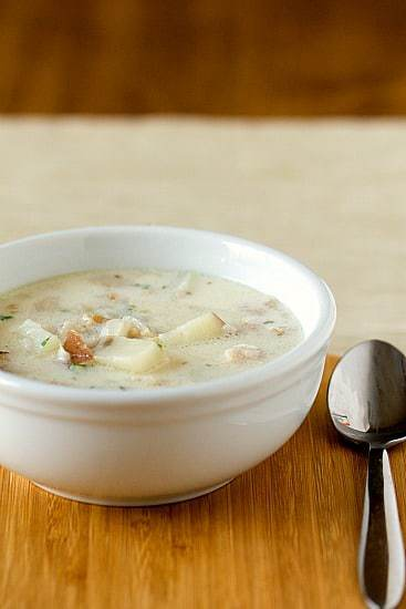 New England Clam Chowder Recipe | Brown Eyed Baker