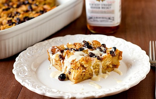 New Orleans Bourbon Bread Pudding with Bourbon Sauce