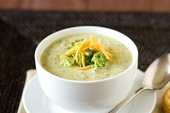 Easy Broccoli Cheese Soup Recipe | Brown Eyed Baker