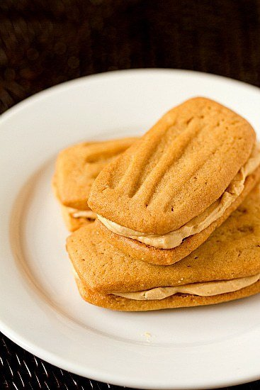 Peanut Butter Sandwich Cookies | Brown Eyed Baker